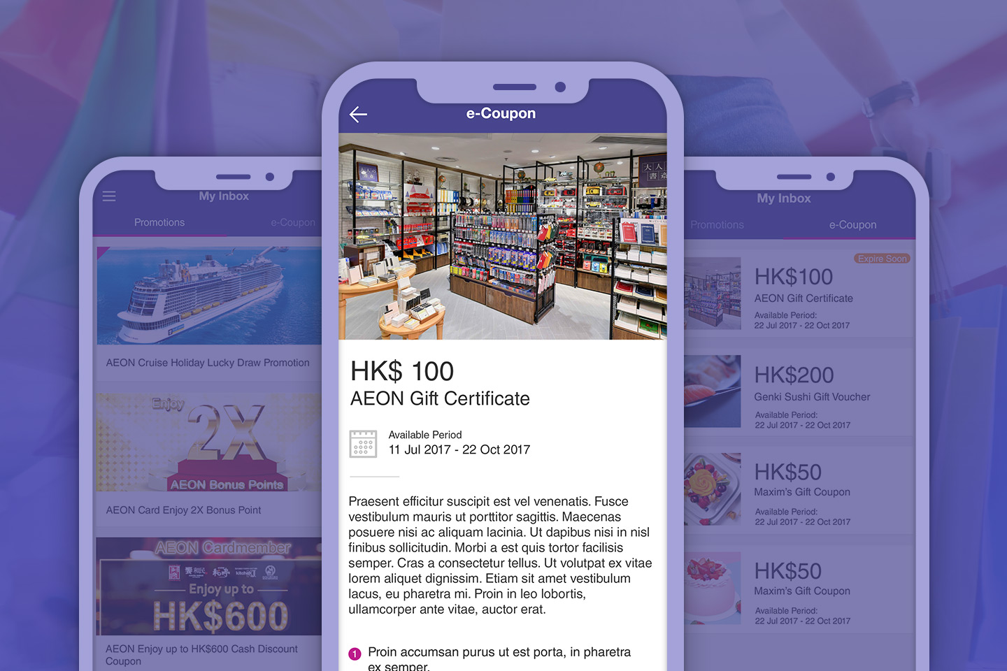 View your bonus points and redeem a wide range of gifts with AEON HK App
