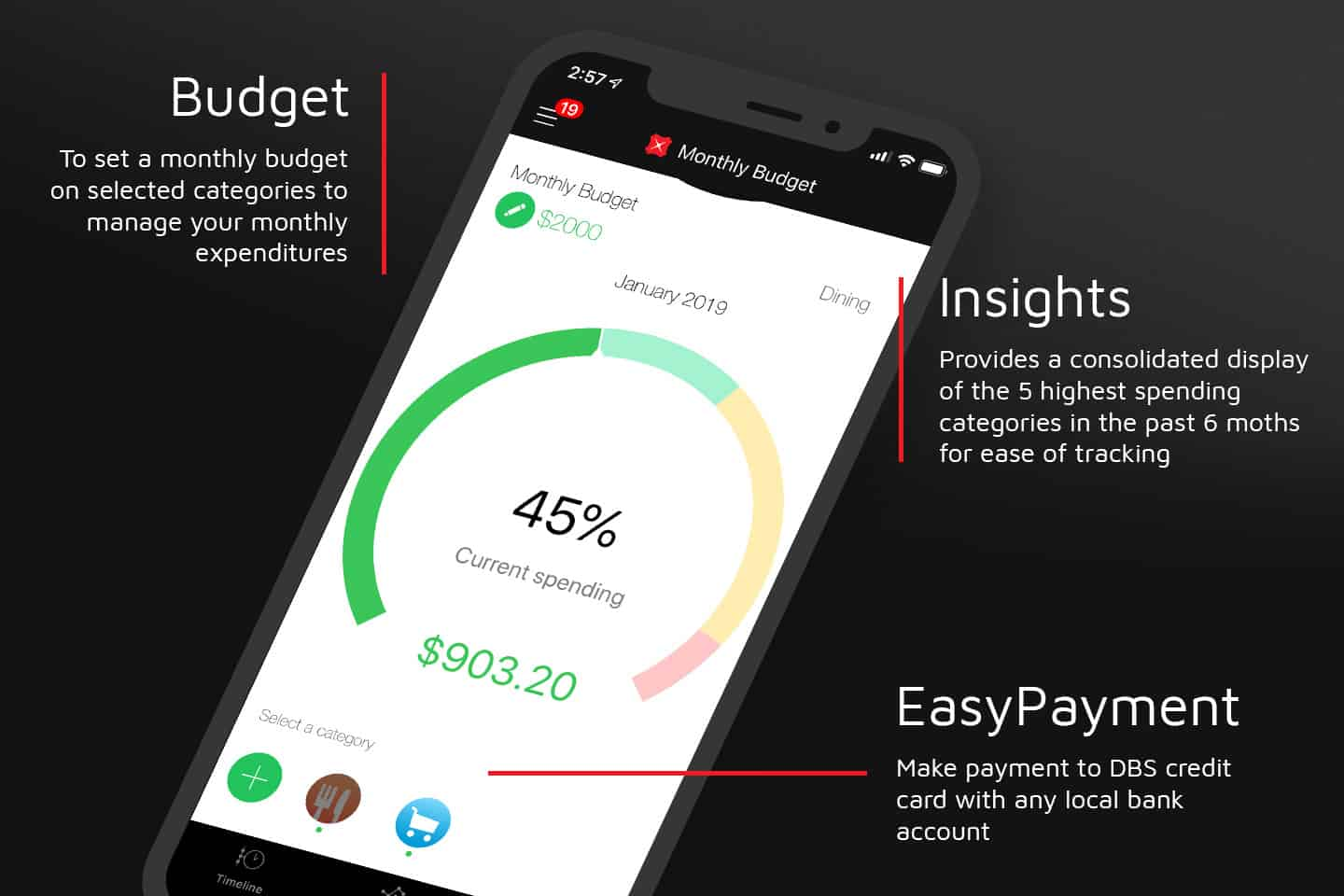 Manage your budget and spending with DBS Omni App