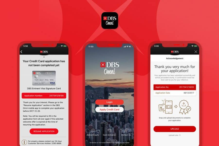 ESDlife Digital Solutions develop DBS Omni App which provides ready-to-use credit card in 5 minutes