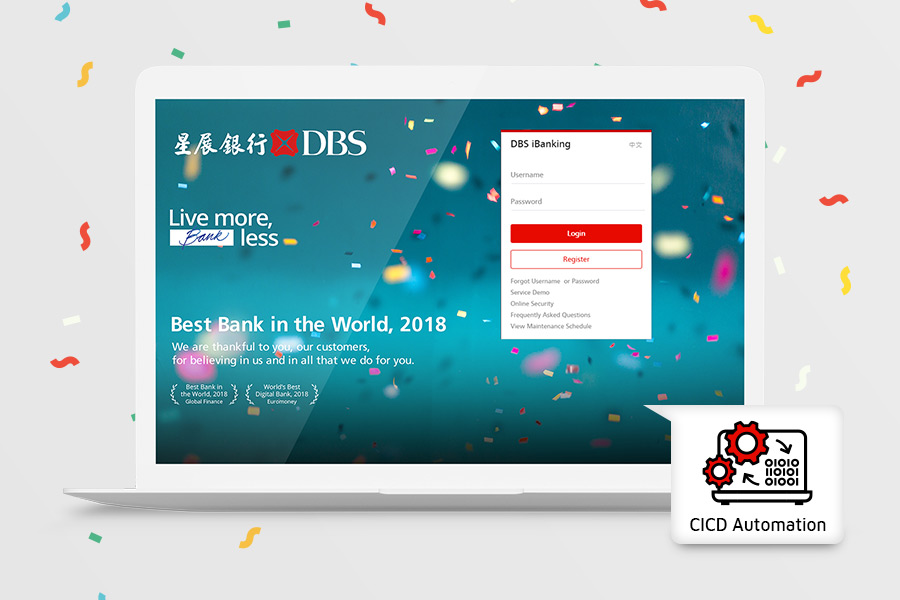 Continuous Integration Continuous Development (CICD) Automation Test implemented by DBS (HK) Limited