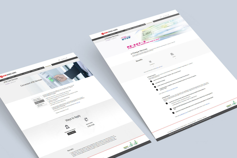 OCBC Wing Hang Bank website revamp showcase