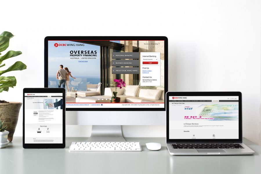 ESDlife Digital Solutions OCBC Wing Hang Bank Website Revamp