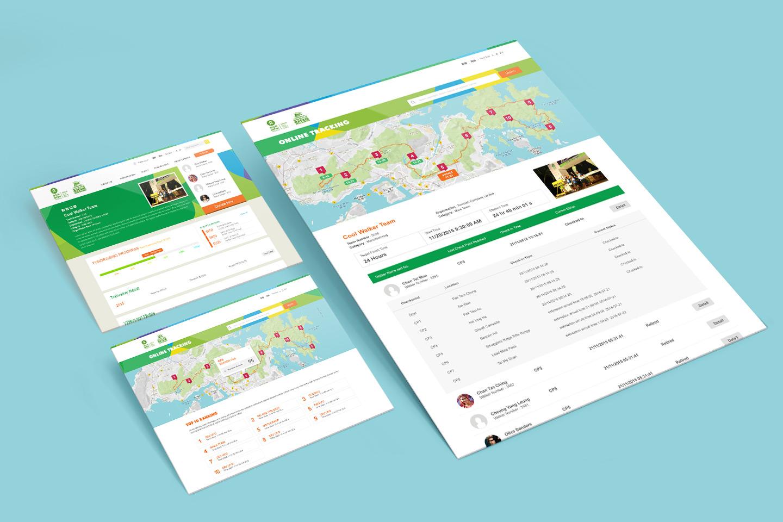 ESDlife Digital Solutions Oxfam Trailwalker HK Website