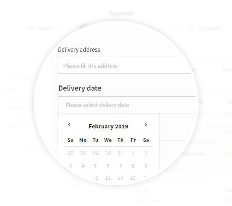 Customized delivery schedule
