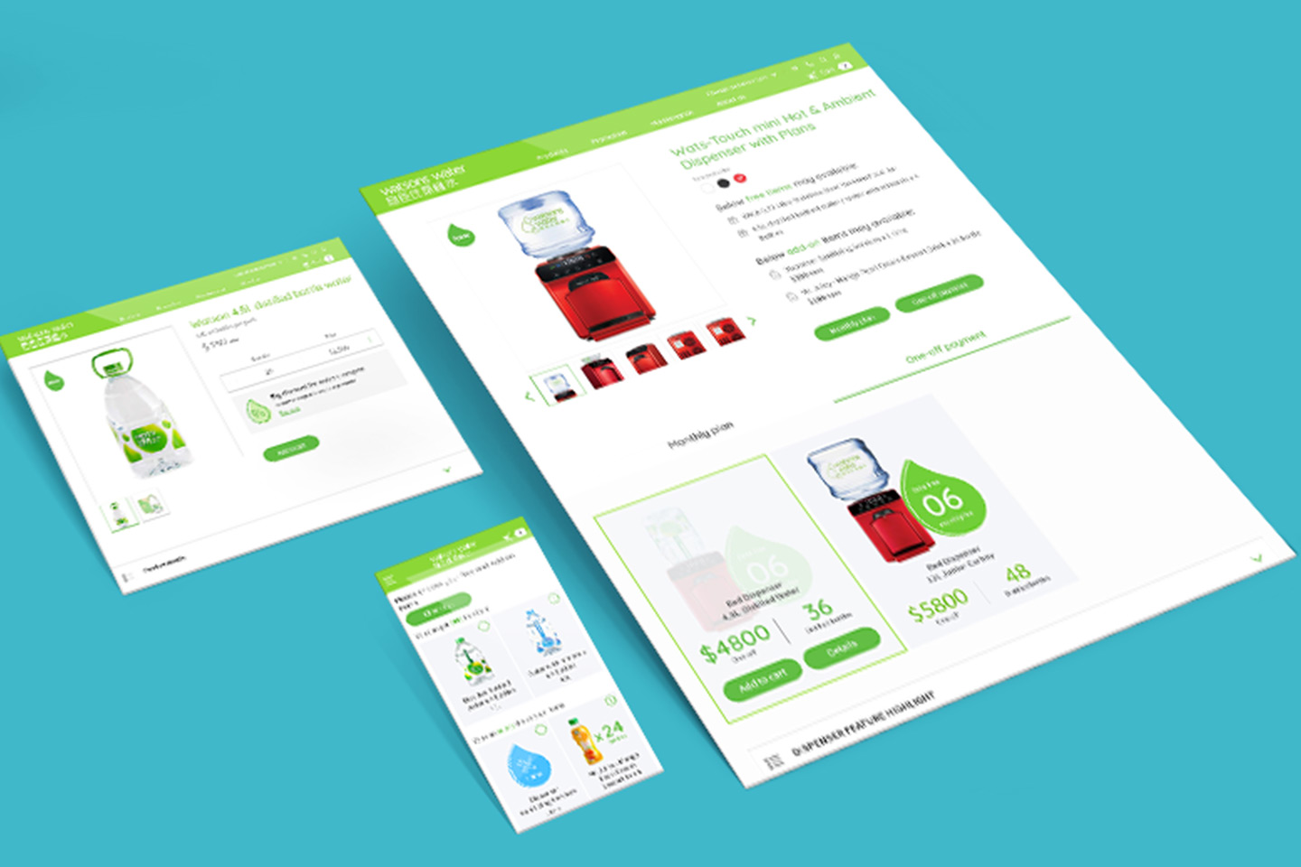 Watsons water eshop mobile app and website
