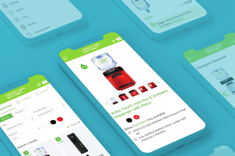Watsons water eshop mobile app