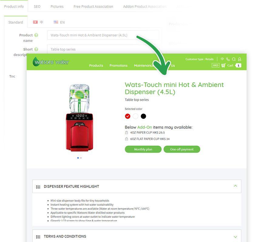 ESDlife Digital Solutions Watsons Water eStore